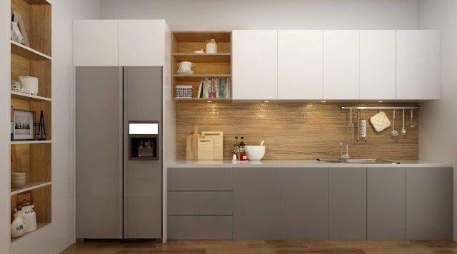 Top 30 mẫu tủ bếp gỗ công nghiệp đẹp hiện đại 2019
