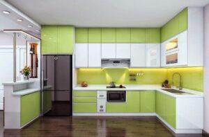 Tủ bếp đẹp acrylic