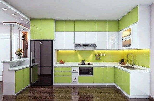 Tủ bếp acrylic giá rẻ