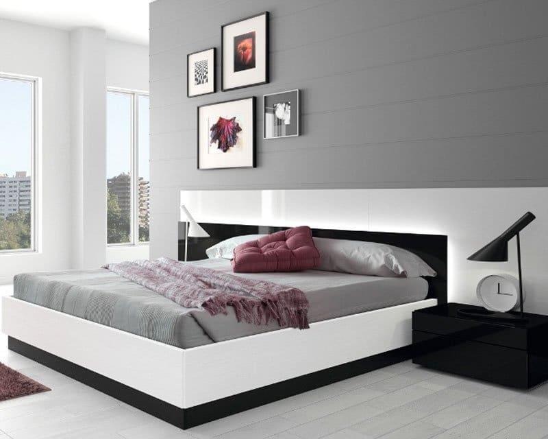 Giường ngủ giá rẻ mdf sơn trắng đen