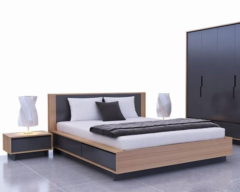 giường ngủ đẹp MDF melamine - GN04