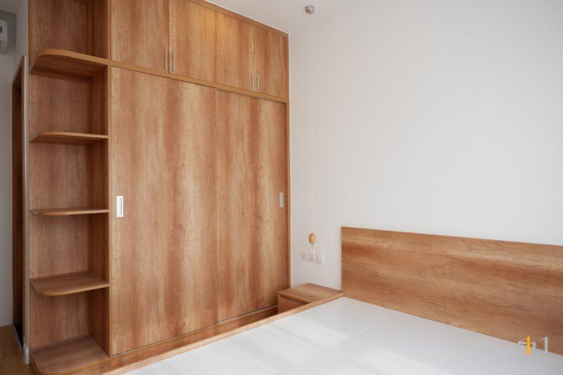 Tủ quần áo và kệ trang trí phòng ngủ Master