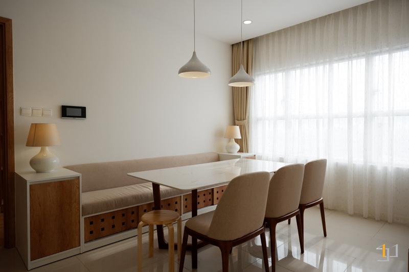 Hoàn thiện thi công nội thất băng ghế phòng khách