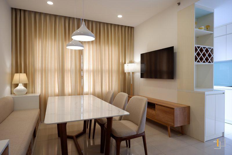 Hoàn thiện thi công nội thất phòng khách căn hộ
