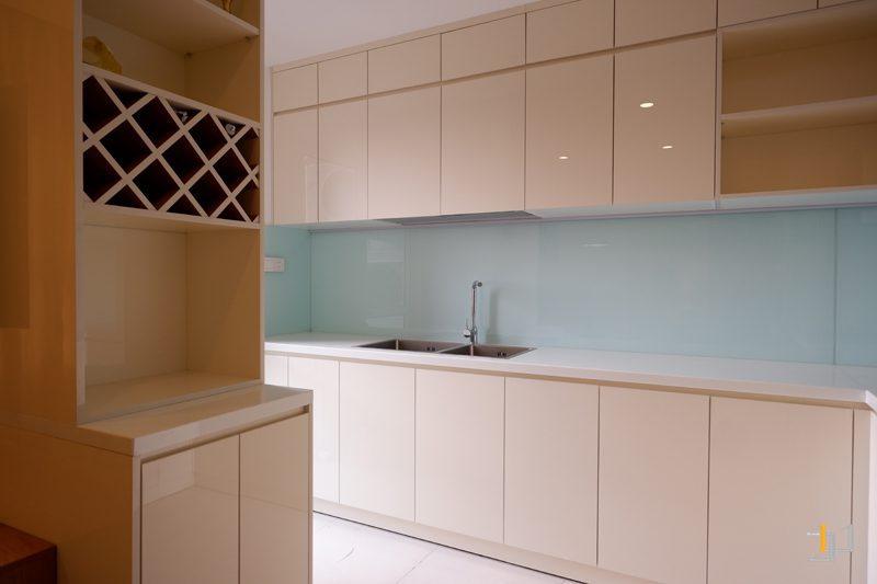 Tủ trang trí và tủ bếp hoàn thiện thi công
