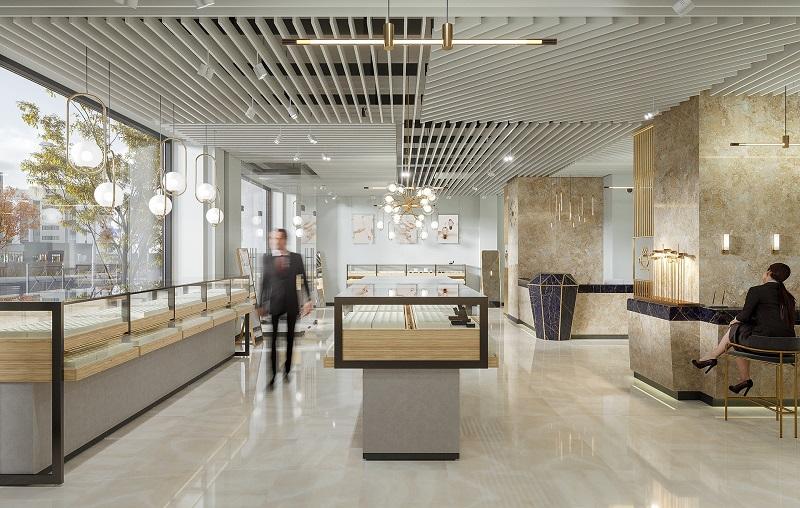 Lối đi khoa học trong thiết kế nội thất tiệm vàng