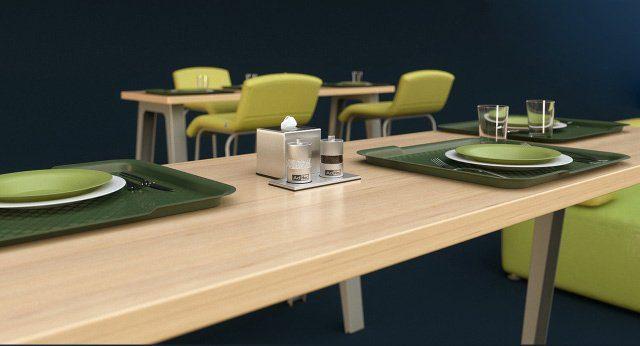 bàn ăn nhân viên văn phòng