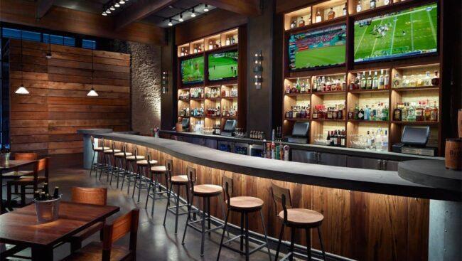 quầy bar khách sạn hình cong 1a