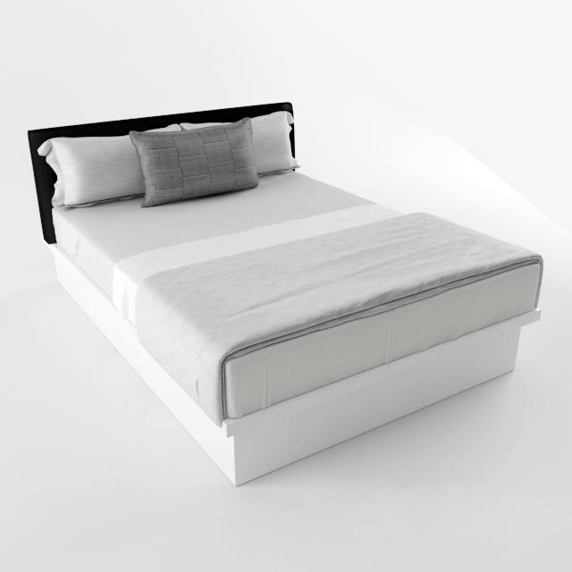 Giường ngủ MFC sơn trắng