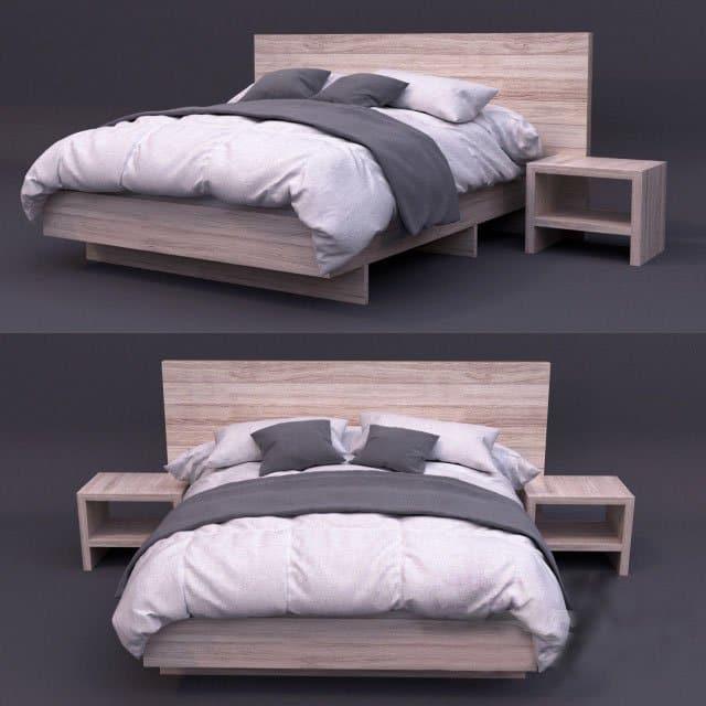 giường ngủ melamine - GN19