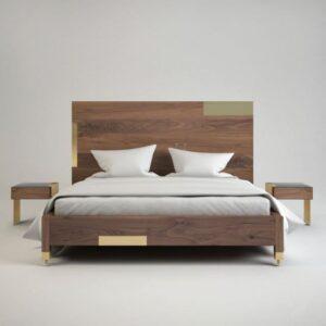 giường ngủ veneer GN21