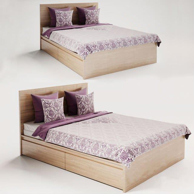 Giường ngủ melamine - GN25
