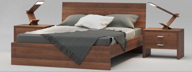 Giường ngủ MDF phủ Veneer GN08