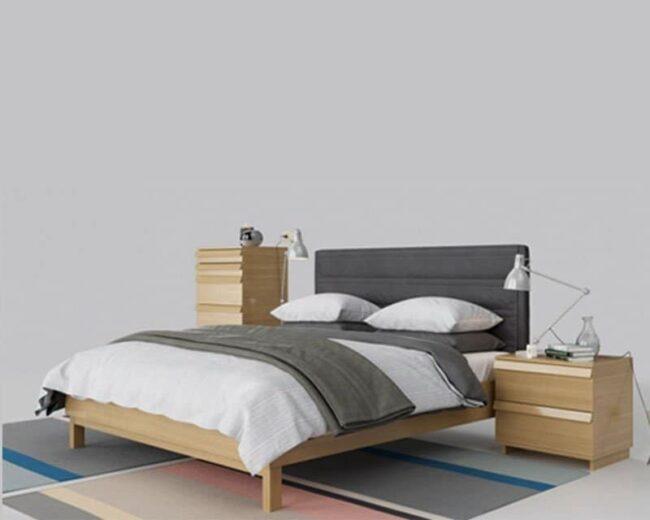Giường ngủ gỗ sồi GN07