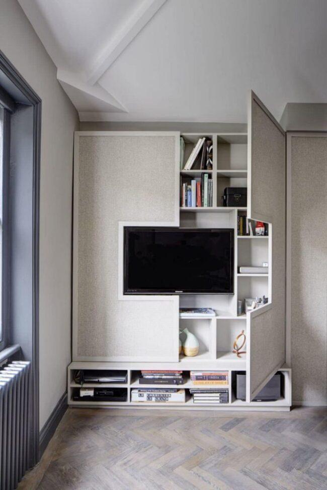 tủ tivi sáng tạo có cửa 1