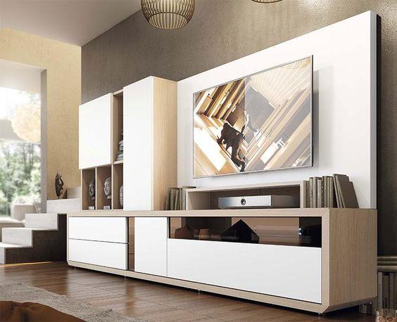 tủ tivi sáng tạo kết hợp tủ sach
