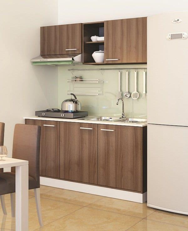 tủ bếp tiết kiệm diện tích