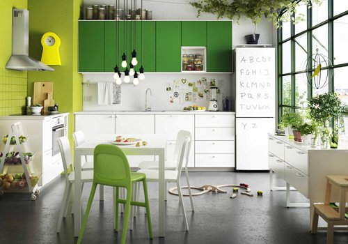 Không gian xanh cho nhà bếp