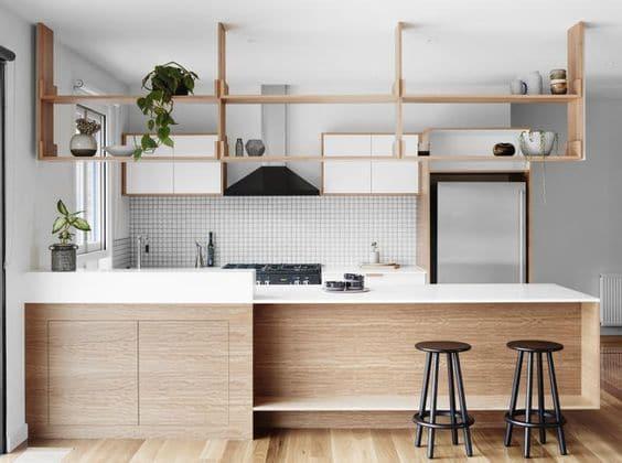 Không gian xanh cho gian bếp