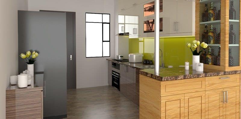 tủ bếp dài 3m