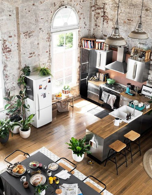 thiết kế phòng bếp đẹp 2018