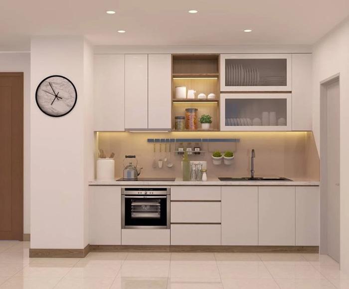 tủ bếp chung cư nhỏ đẹp - hình 01