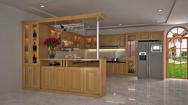 Quầy bar đi liền với tủ bếp