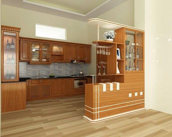 Quầy bar thiết kế gần bếp