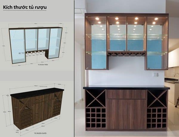 Tủ rượu căn hộ Vista Verde