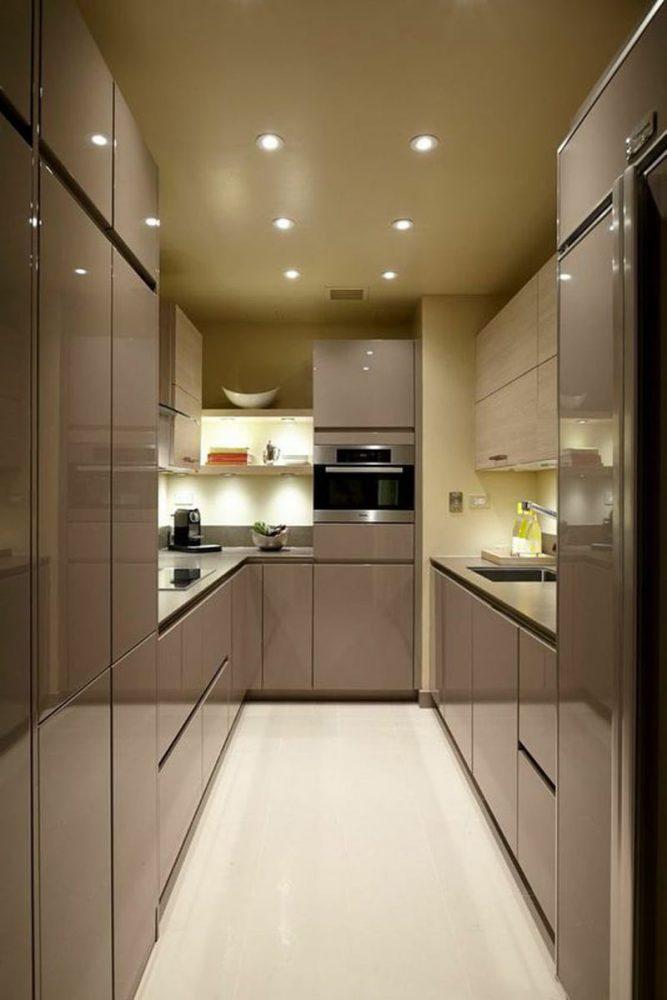 tủ bếp gỗ công nghiệp acrylic