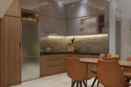 tủ bếp đẹp gỗ công nghiệp cho căn hộ nhỏ
