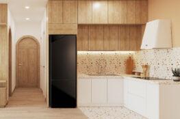 tủ bếp japandi hiện đại cho căn hộ