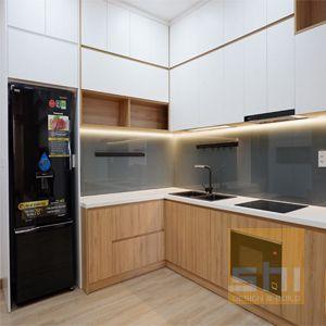 tủ bếp gỗ mdf chống ẩm phủ melamine