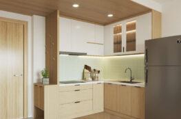 tủ bếp japandi đẹp cho nhà nhỏ hiện đại