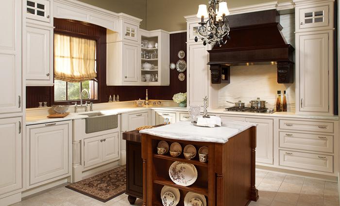 tủ bếp cổ điển đẹp - mẫu 11