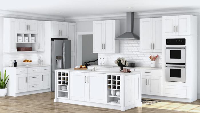 tủ bếp cổ điển đẹp - mẫu 12
