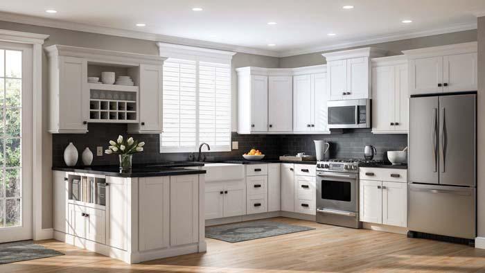 tủ bếp cổ điển đẹp - mẫu 13
