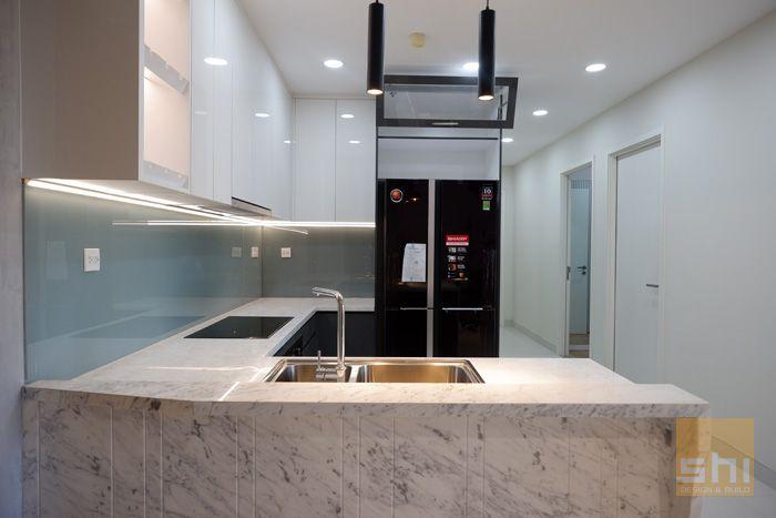 Mẫu tủ bếp đơn giản đẹp kiểu chữ U