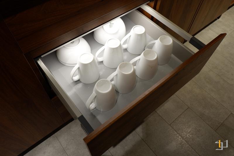 Ray đựng ly, tô, chén đĩa dạng hộp tủ bếp