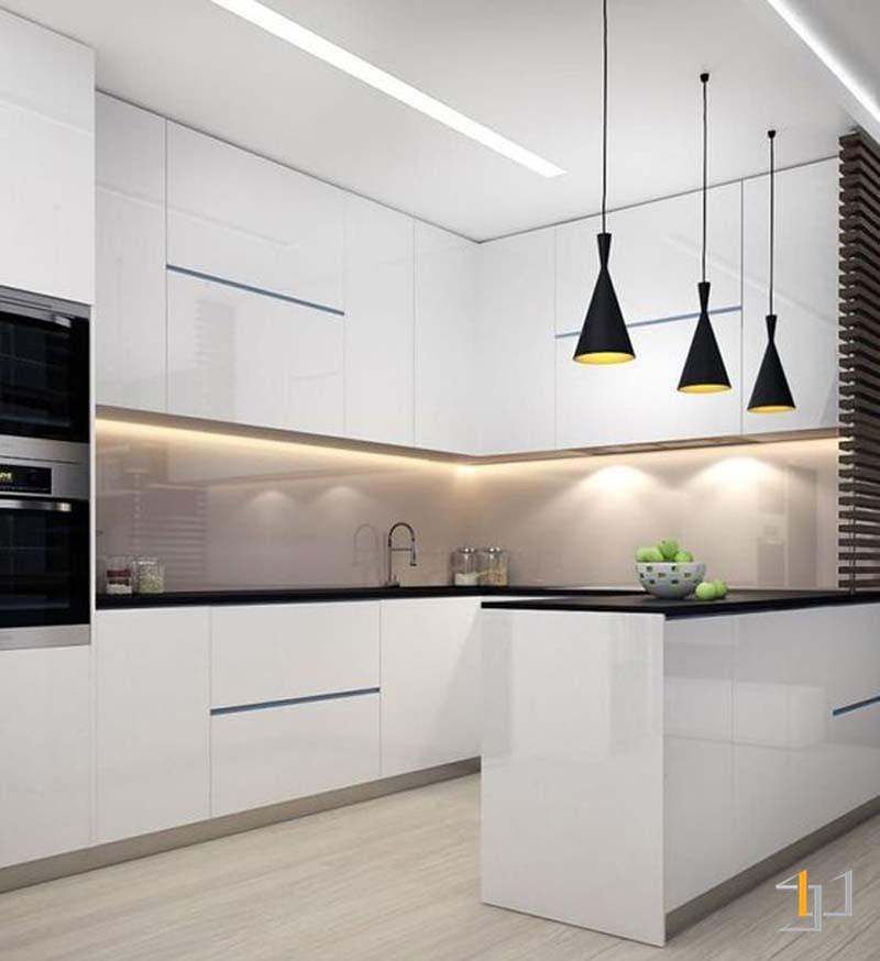 Tủ bếp acrylic đẹp hiện đại
