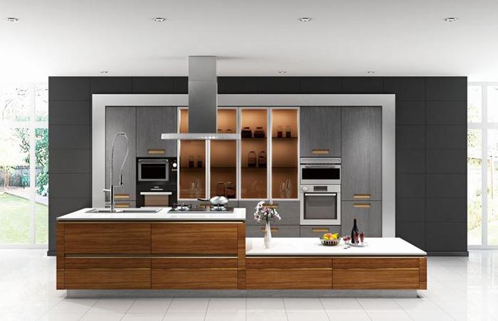 Mẫu Tủ Bếp Gỗ Melamine An Cường - Hình 01