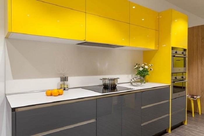 Tủ Bếp Đẹp Bằng Gỗ Công Nghiệp - Hình 01