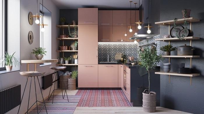 Tủ Bếp Đẹp Bằng Gỗ Công Nghiệp - Hình 02