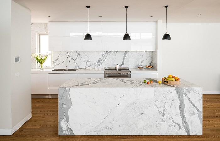 Mẫu Tủ Bếp Đẹp Màu Trắng - Hình 10