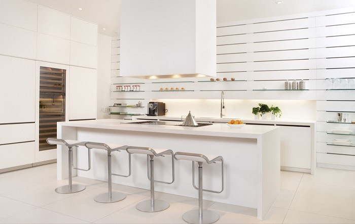 Mẫu Tủ Bếp Đẹp Màu Trắng - Hình 02
