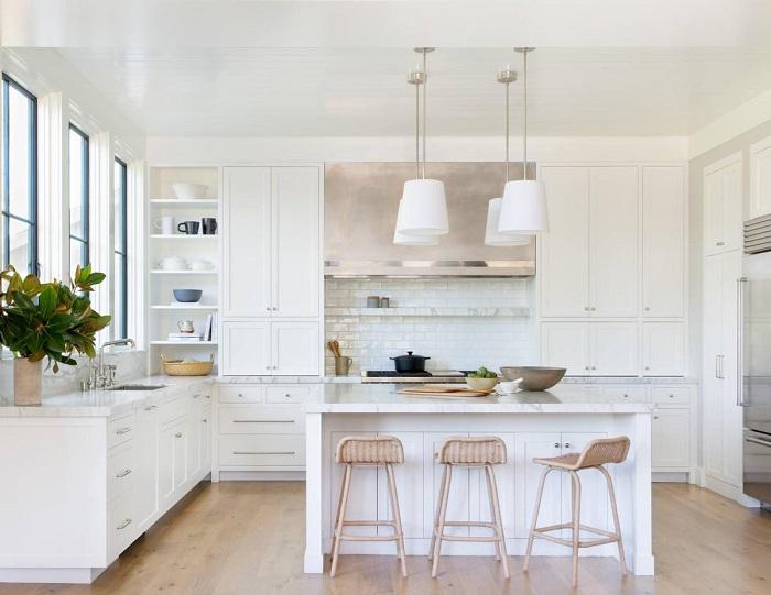 Mẫu Tủ Bếp Đẹp Màu Trắng - Hình 03