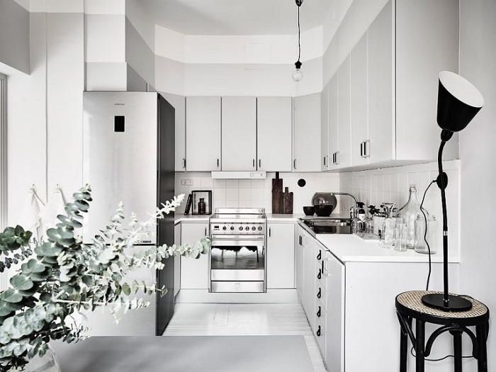 Mẫu Tủ Bếp Đẹp Màu Trắng - Hình 06
