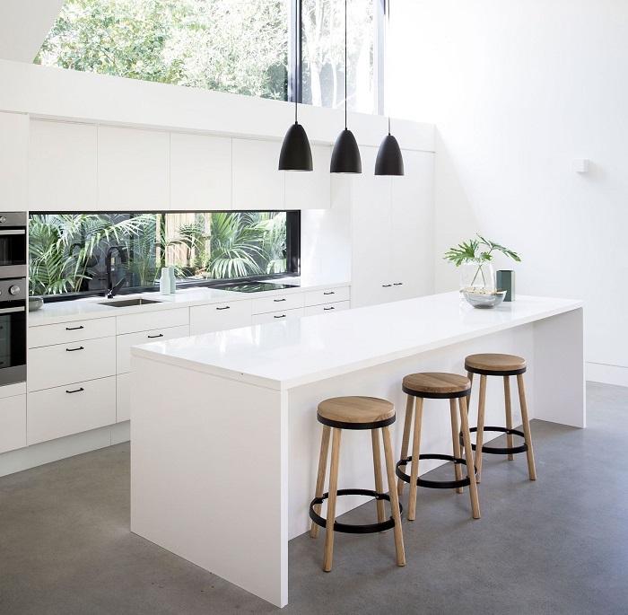 Mẫu Tủ Bếp Đẹp Màu Trắng - Hình 07