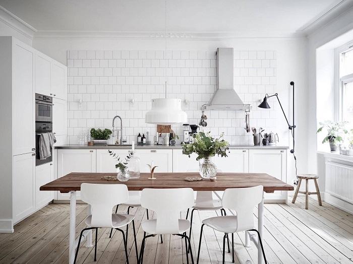 Mẫu Tủ Bếp Đẹp Màu Trắng - Hình 08