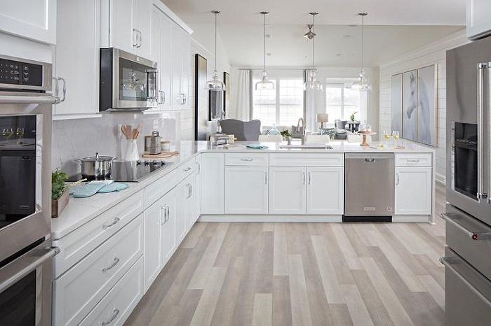 Mẫu Tủ Bếp Đẹp Màu Trắng - Hình 09